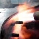 Burning Gas Torch Metal Sparks And Fire - VideoHive Item for Sale
