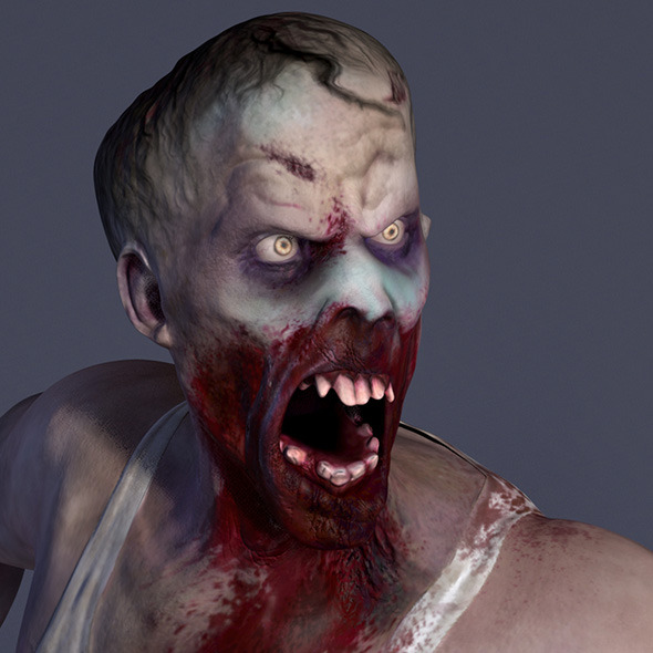 Zombie Male Model - 3DOcean Item for Sale