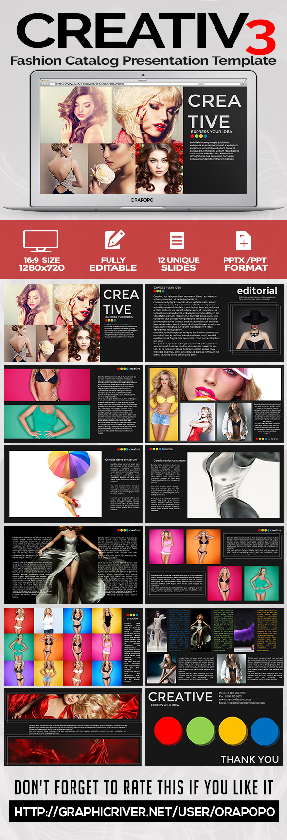 Fashion Catalog Presentation Template - Creative PowerPoint Templates