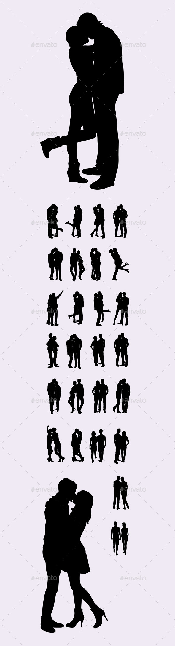 Couple Silhouettes - People Characters