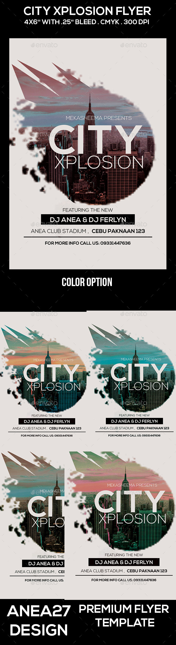 City Xplosion Flyer - Clubs & Parties Events