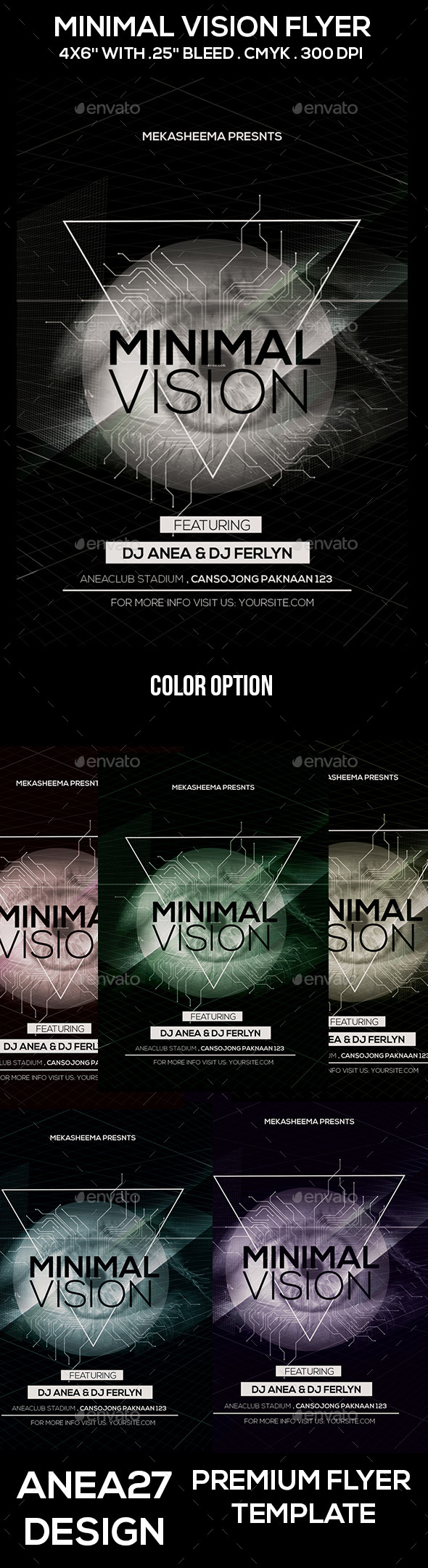 Minimal Vision Flyer - Clubs & Parties Events
