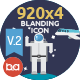 920x4 Blanding Flat Icons - GraphicRiver Item for Sale
