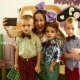 The Girl And Three Boys Do The Selfie - VideoHive Item for Sale