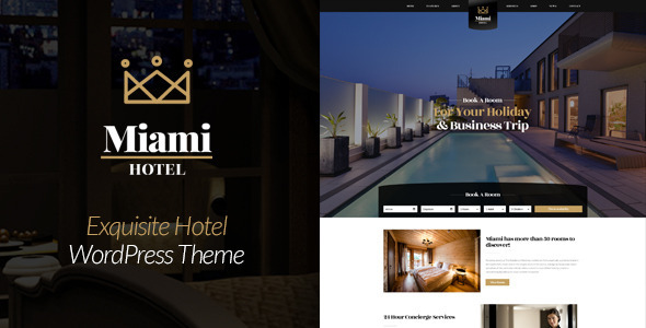 Miami - Exquisite Hotel Booking WordPress Theme