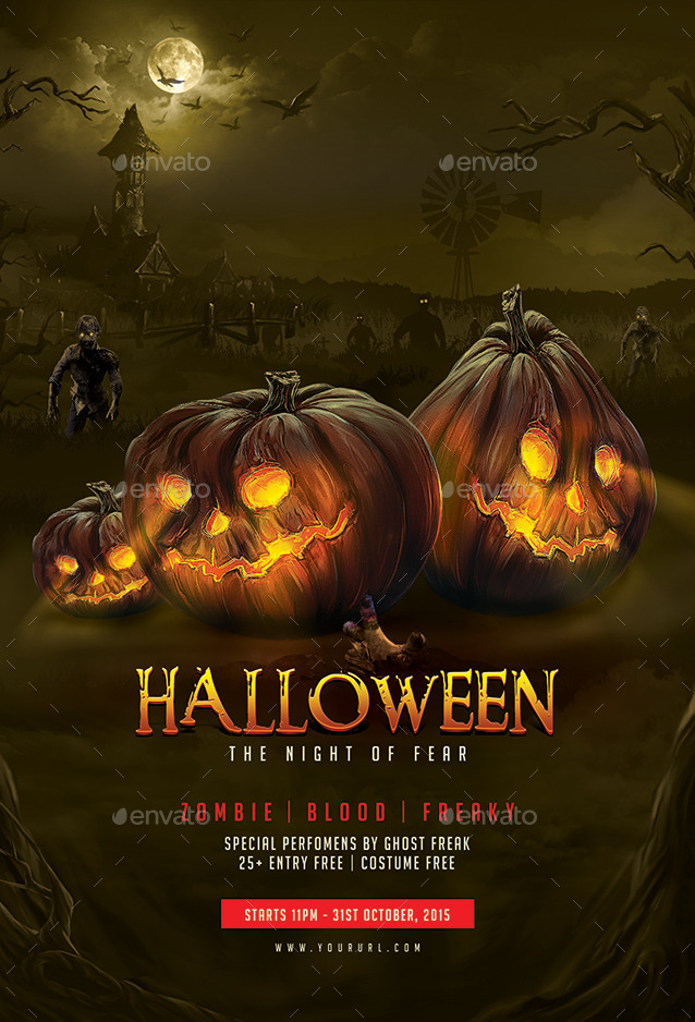 halloween flyer template by hyov