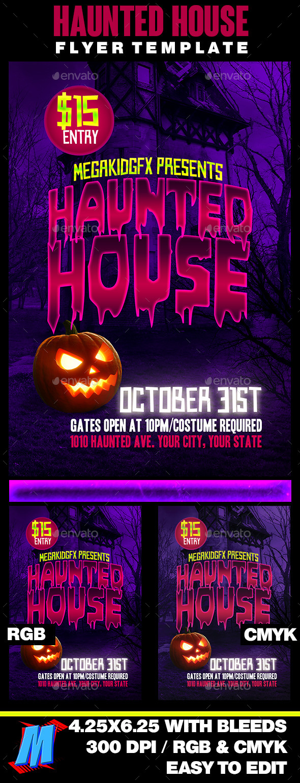 Haunted House Flyer Template - Clubs & Parties Events