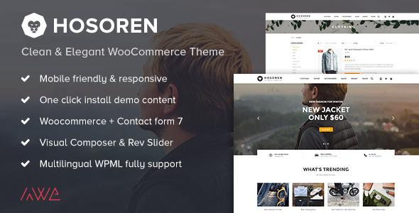 Hosoren - Clean & Elegant WooCommerce Theme - WooCommerce eCommerce