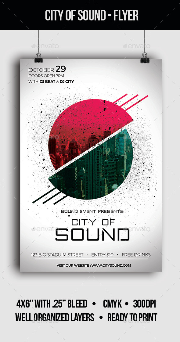 City of Sound - Flyer - Clubs & Parties Events