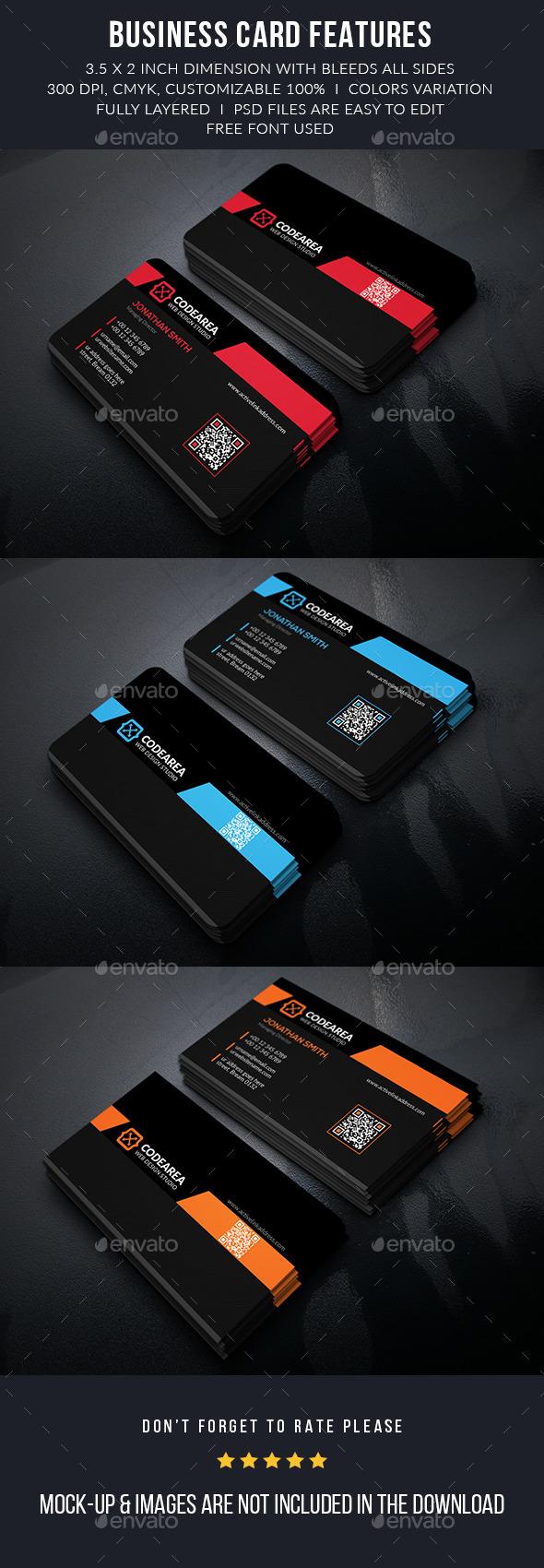 Codearea Modern Business Cards - Business Cards Print Templates