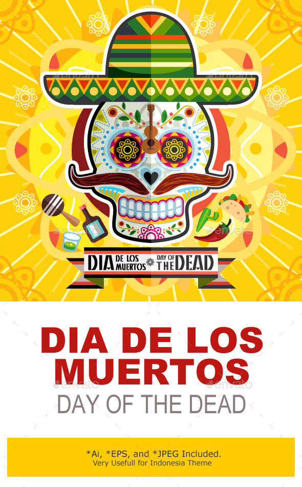 Dia De Los Muertos Day Of The Dead Skull - Halloween Seasons/Holidays
