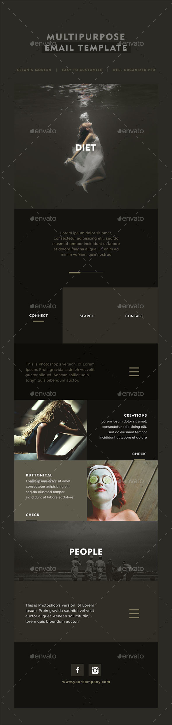 Diet Multipurpose Email Template - E-newsletters Web Elements