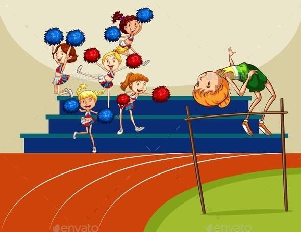 High Jump - People Characters