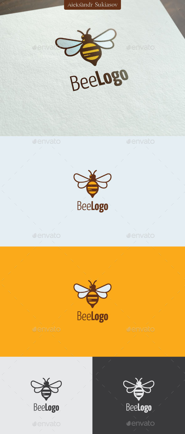 Bee Logo - Animals Logo Templates