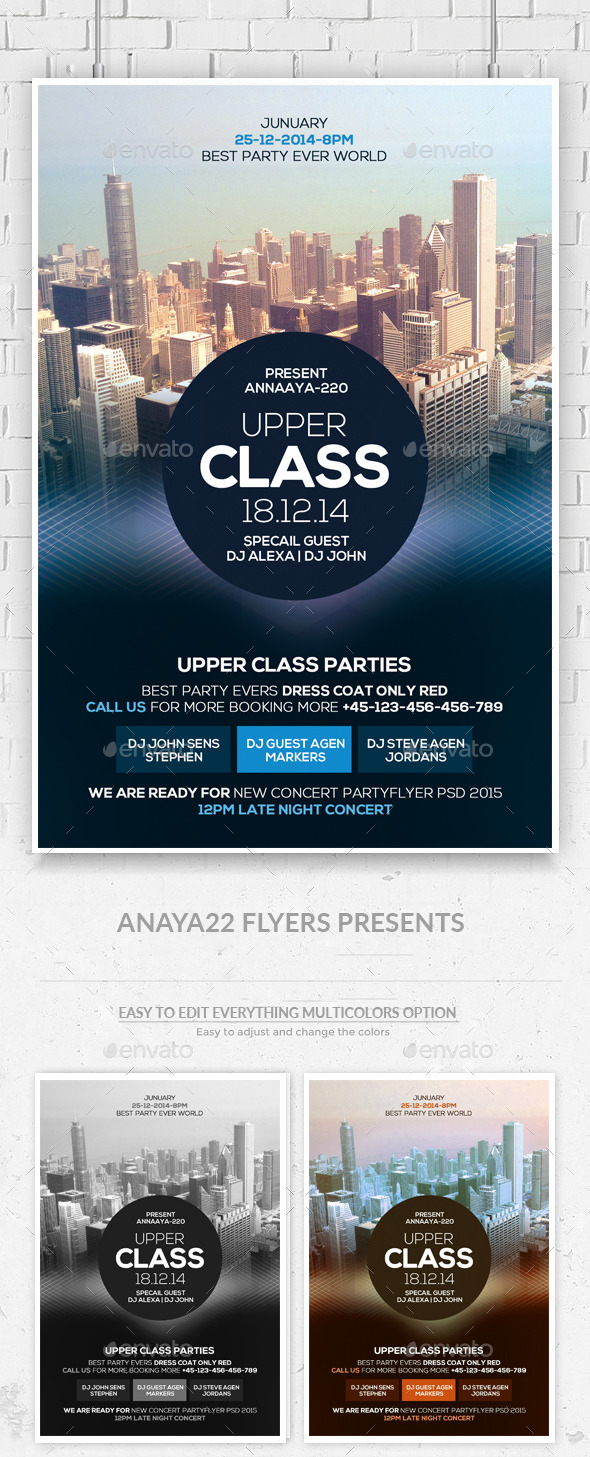 Upper Class Flyer  - Clubs & Parties Events