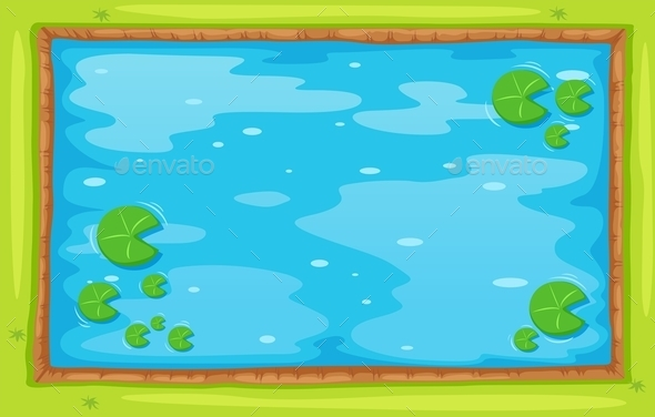 Small Pond from Top View - Miscellaneous Conceptual