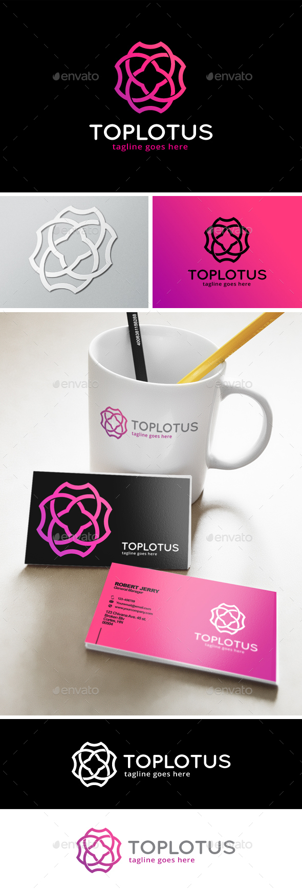 Top Lotus Logo - Symbols Logo Templates