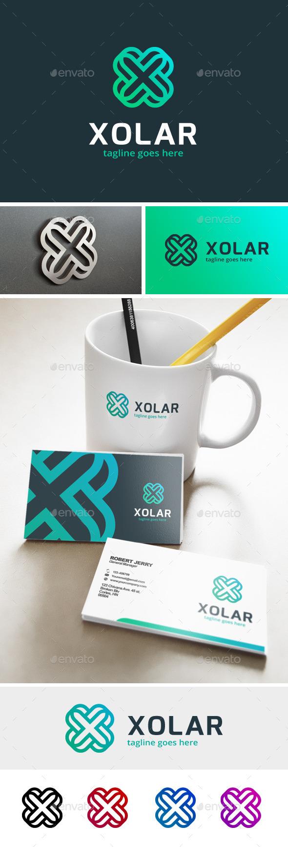 Xolar - Letter X Logo - Letters Logo Templates