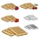 Set Of Vector Viennese Waffles - GraphicRiver Item for Sale
