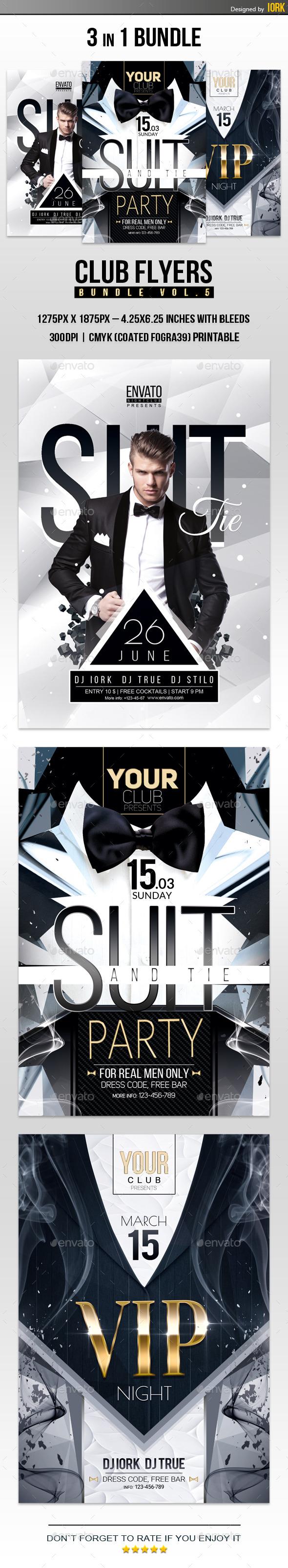 Club Flyers Bundle Vol.5 - Clubs & Parties Events