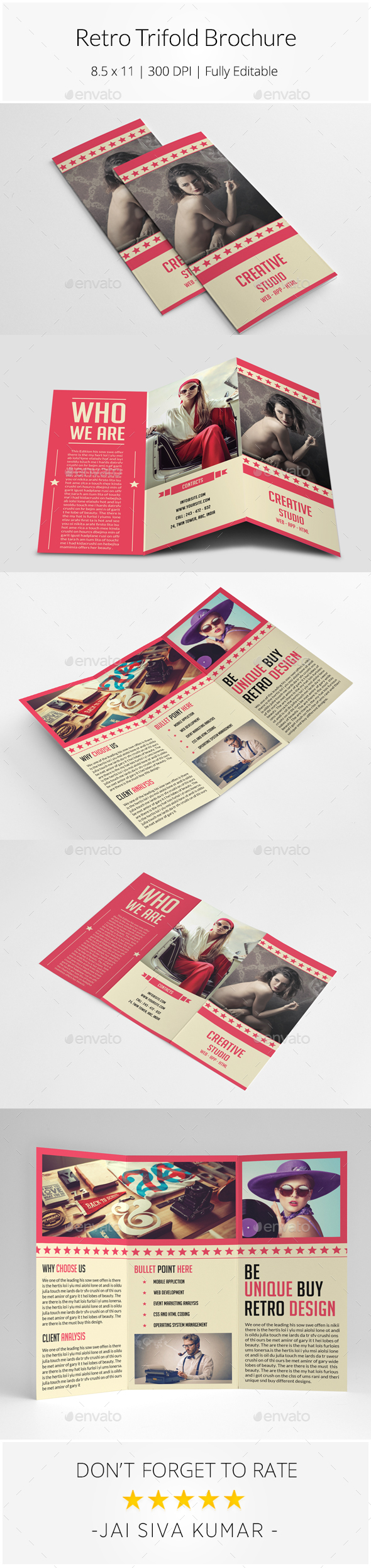 Retro Style Trifold Brochure - Informational Brochures