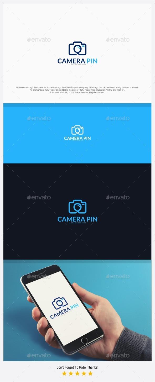 Camera Pin / Local Photography Logo - Objects Logo Templates
