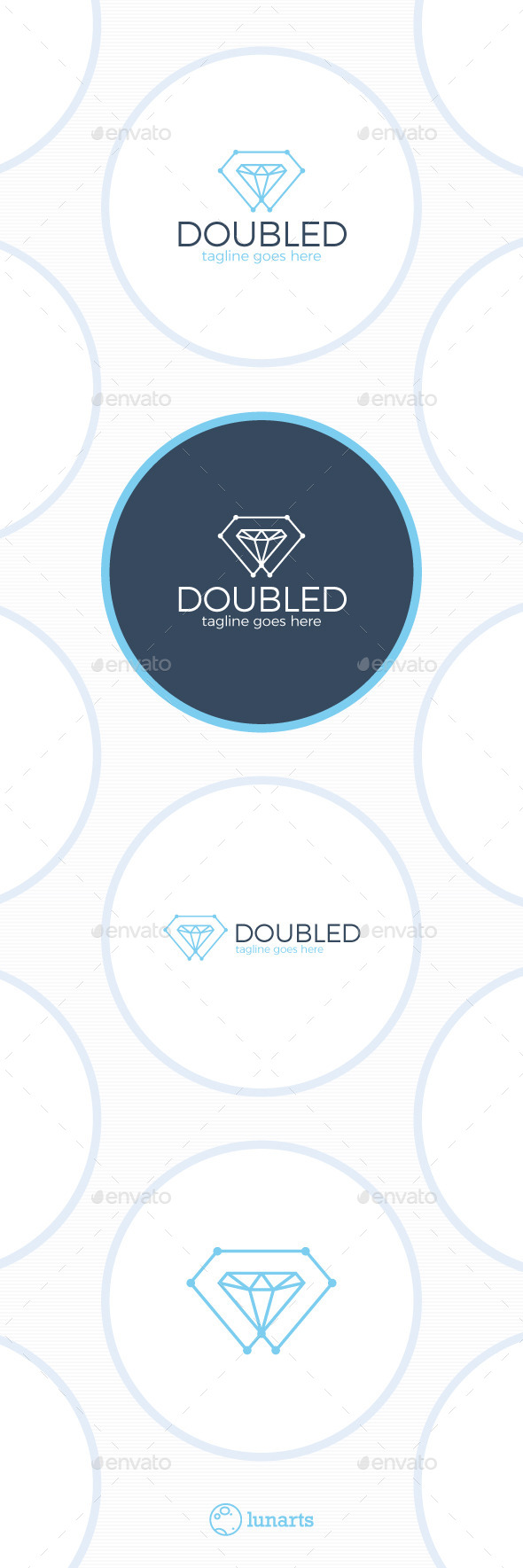 Double Diamond Tech Logo - Symbols Logo Templates