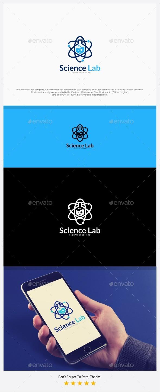 Science Lab - Atomic Lab Logo - Symbols Logo Templates