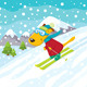 Cartoon Skiing Dog - GraphicRiver Item for Sale