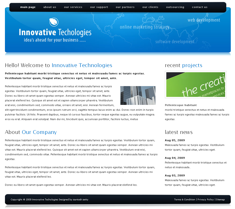 Free Download Innovative Technologies Html Template Nulled Latest Version