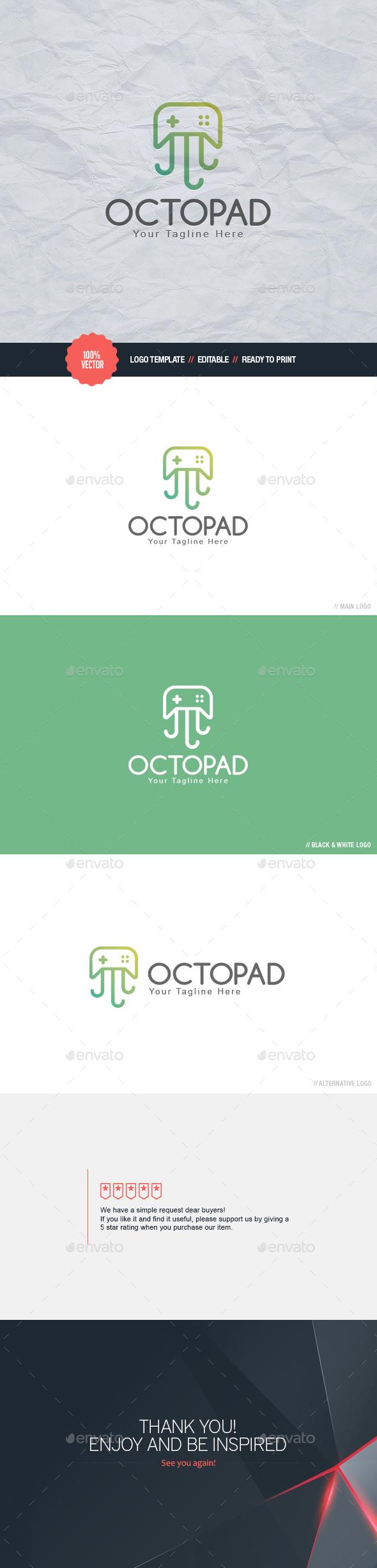 Octopad Logo - Animals Logo Templates