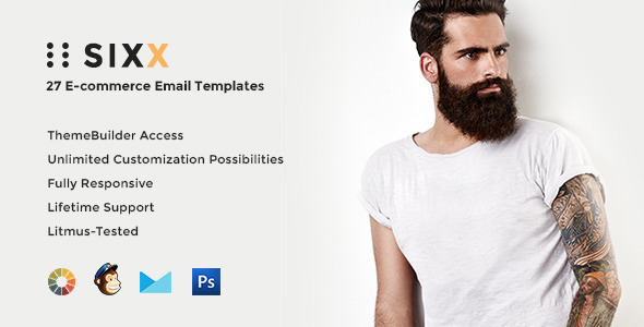 Sixx - E-Commerce Email w/ Builder Access