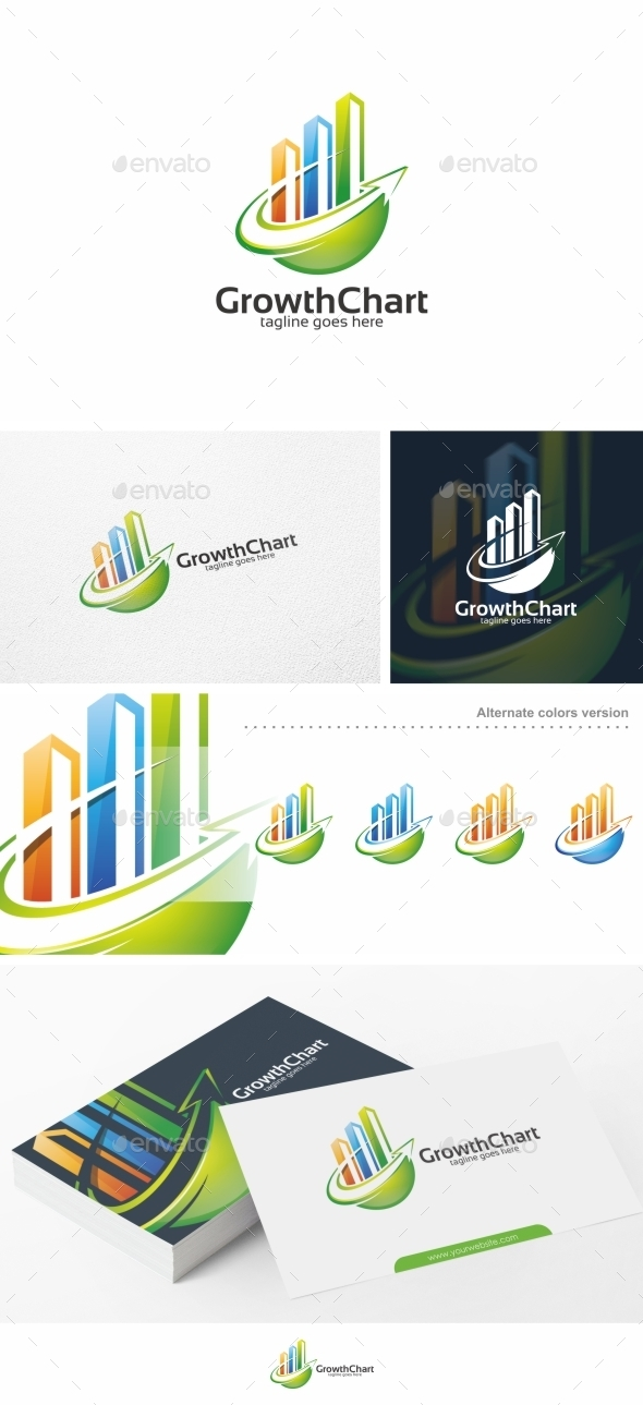 Growth Chart  Logo Template By PutraPurwanto  Graphicriver