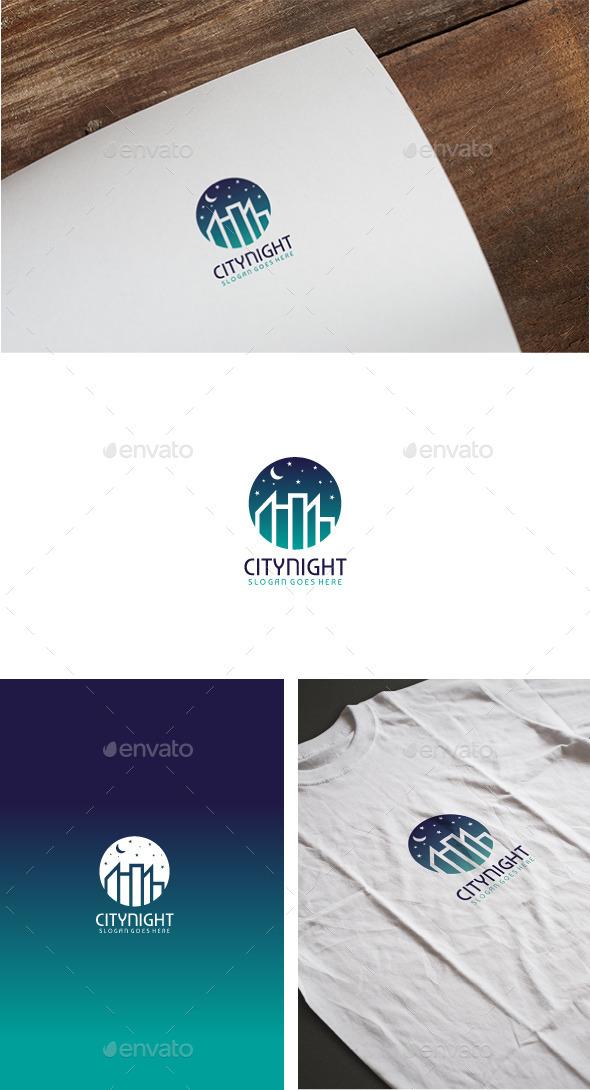 City Night Logo - Buildings Logo Templates