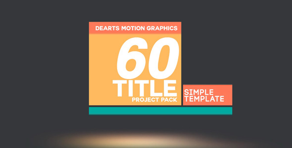 Modern 60 Title Pack by dearts  VideoHive