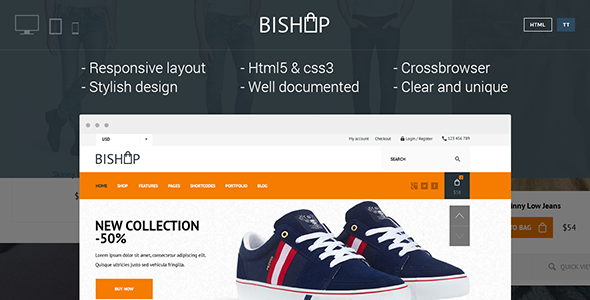 Bishop - Elegant & Clean Shop Template - Shopping Retail