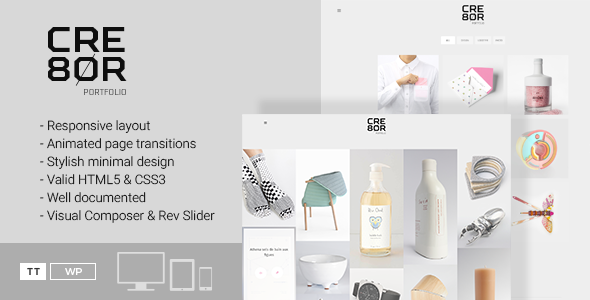 Cre8or – A Minimal Portfolio WordPress Theme