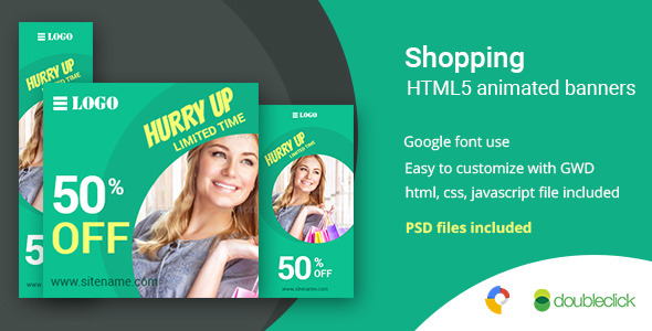 Shopping | HTML5 Google Banner Ad 5 - CodeCanyon Item for Sale