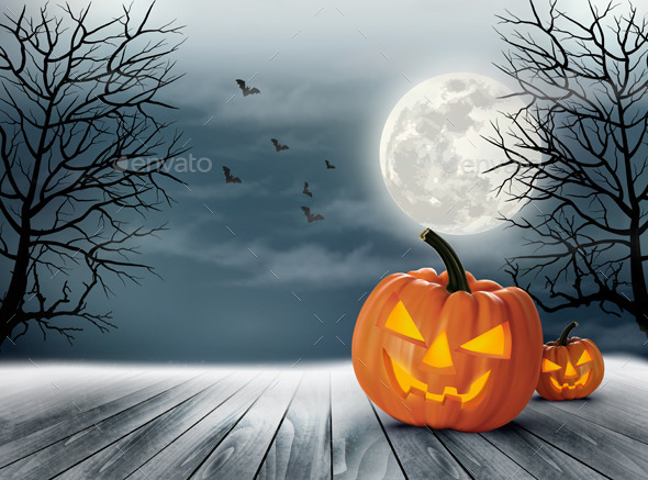 Halloween Spooky Background - Halloween Seasons/Holidays