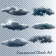 Set of Transparent Clouds Vector - GraphicRiver Item for Sale