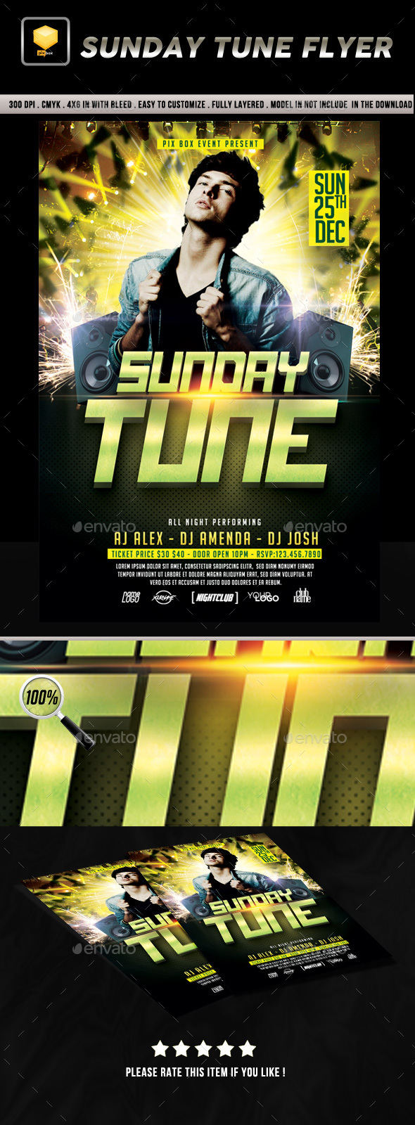 Sunday Tune Flyer - Clubs & Parties Events