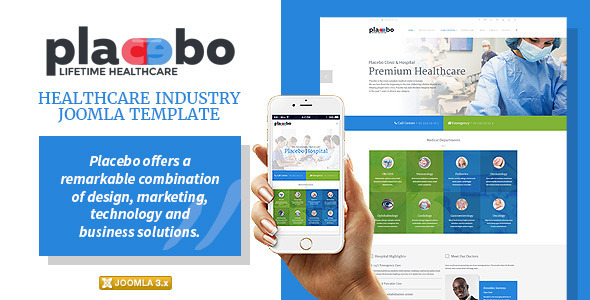 Placebo – Healthcare Industry Joomla Template