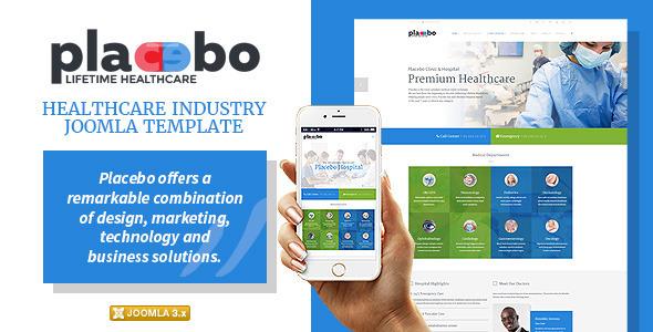 Placebo – Healthcare Industry Joomla Template