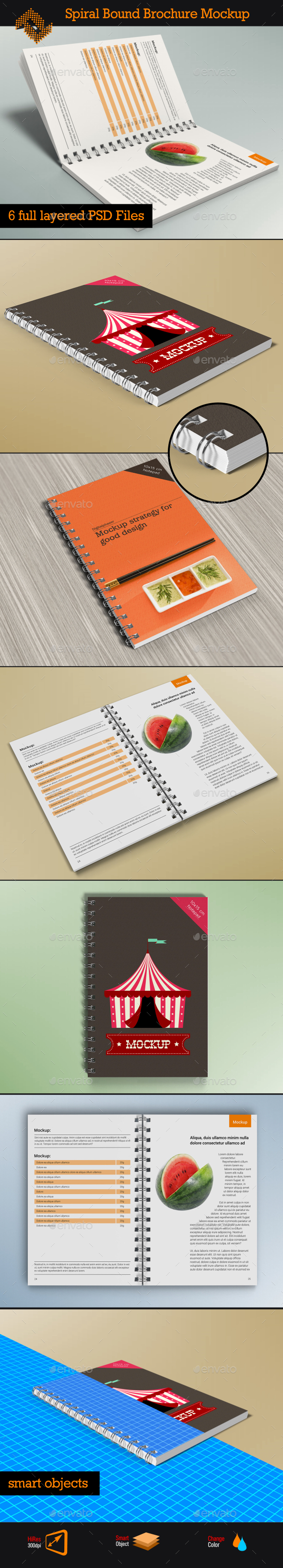 Spiral Bound Brochure / Notepad Mockup - Brochures Print
