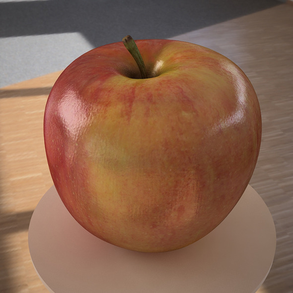 3D model apple fruit - 3DOcean Item for Sale