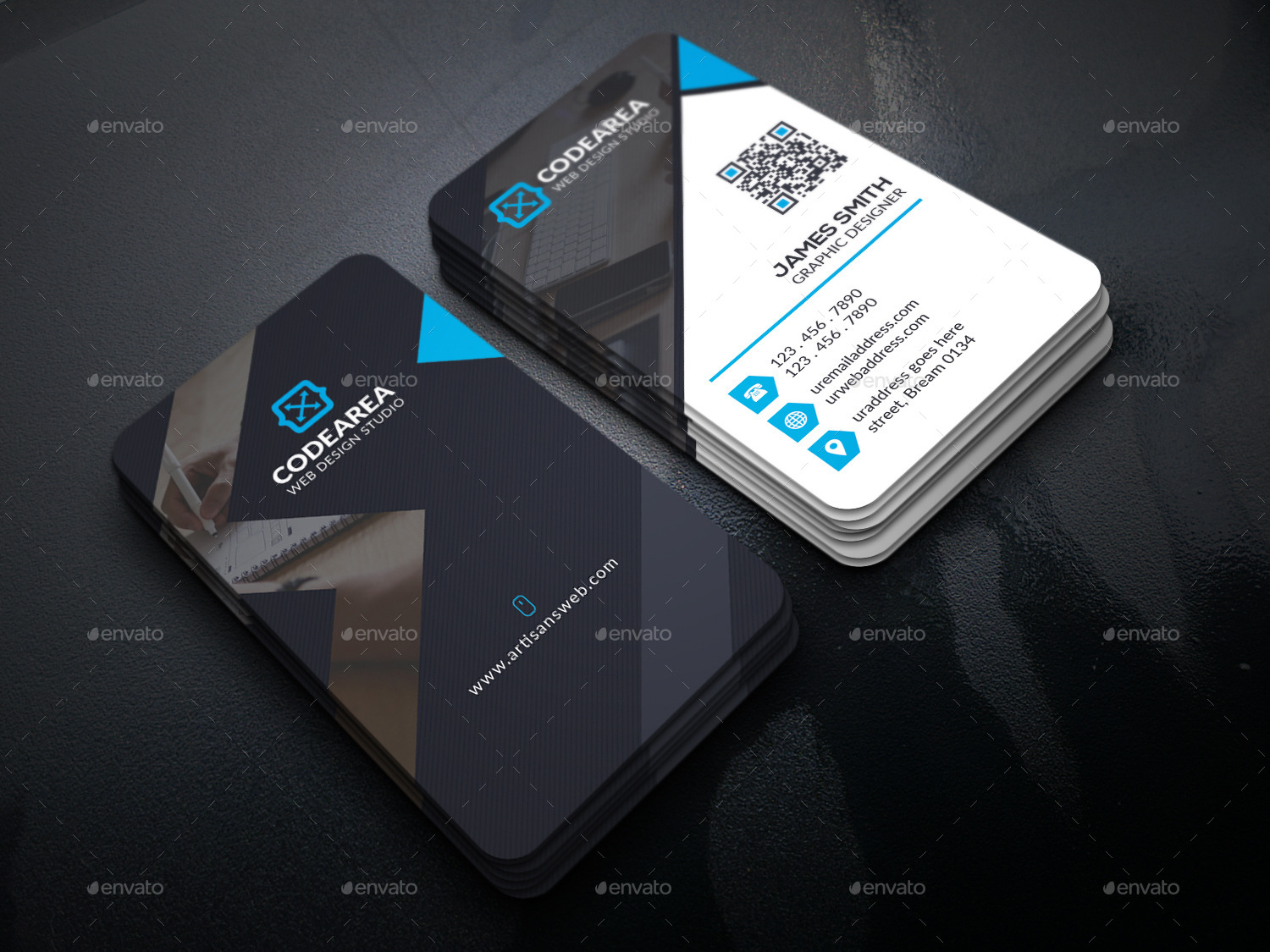 Soft Creative Business Cards By UXcred GraphicRiver - Web design business cards templates