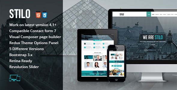 Stilo - One Page Multipurpose Wordpress Theme