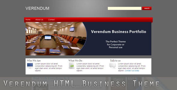 Free Download Verendum HTML Business Portfolio Nulled Latest Version