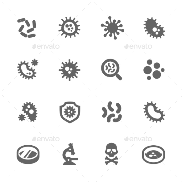 Bacteria Icons - Objects Icons