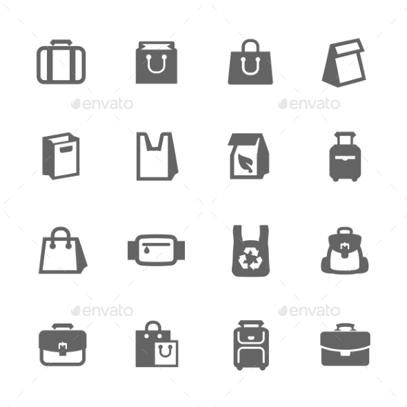 Bags Icons - Objects Icons